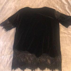 ASOS black Velvet top